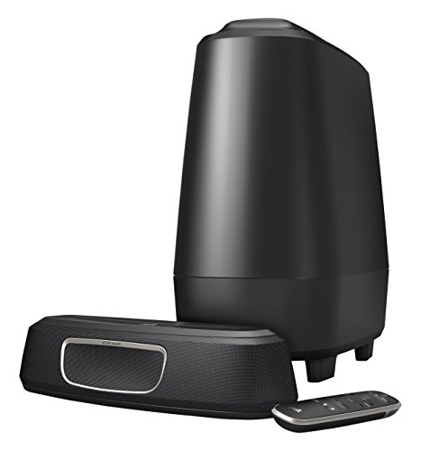 Polk Audio magnifi Mini Barra de Sonido + subwoofer inalámbrico Minicadena, Color Negro