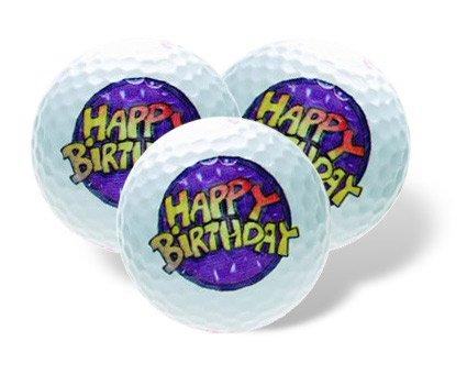 Unbekannt Golfballset Hapy Birthday. Geburtstagsgeschenk Golfbälle. Golfball mit Golfmotiv.