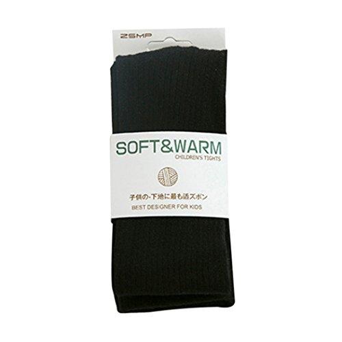 Collant Enfant Fille Bébé Automne Hiver Chaud Collants en Coton Epais Legging Résistant Sans Couture Peau-serré pour Enfants Filles 2--10 ans (115cm (6-8ans), Noir)