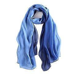 Idea Regalo - Foulard/Sciarpa 100% Seta per Donna Colore sfumato, Scialle di eleganti ed Moda 70,8