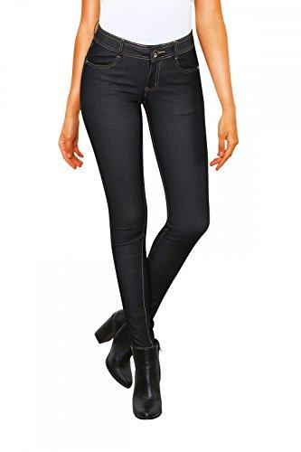 Damen Jeans Hose Skinny Röhre (614), Grösse:M / 38, Farbe:Denim Dunkel Schwarz (Schwarze Skinny Jeans Größe 12)