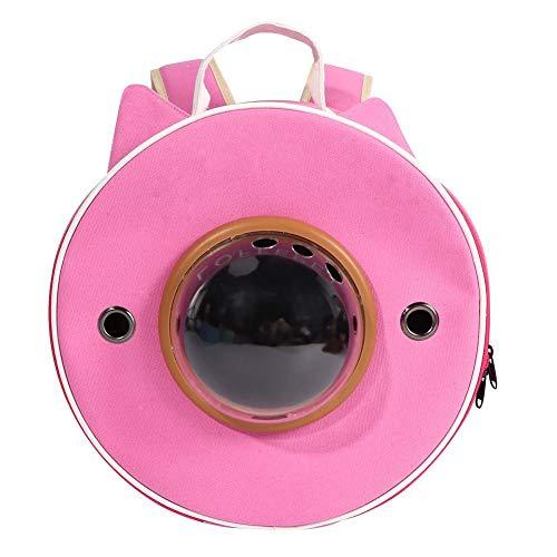 HEEPDD Tragbarer Rucksack für Haustierträger, Reiserucksack für Katzenhunde mit Mehreren Belüftungsöffnungen wasserdichte, leichte Handtasche für Katzen Kleine Hunde und zierliche Tiere(Rosa) -
