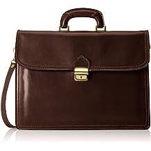 Organizador del bolso de los hombres, caja elegante, Maletín, cuero genuino del 100