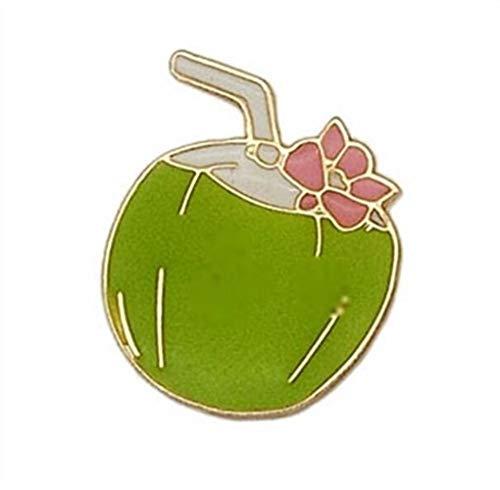 Seba5 Home Vintage Kokos-Saft Broschen Button Badge Kleidung Zubehör (grün) Creative Lovely Abzeichen -