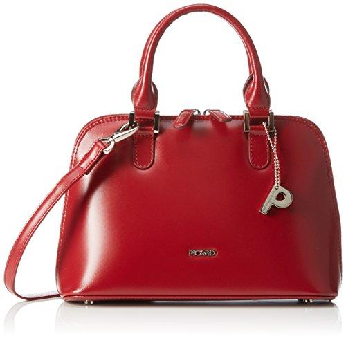 Picard sac à main en cuir petit modèle classique & berlin stickerkoenig, 26 x 18 x 11 cm (H x L x P) Rouge - Rouge