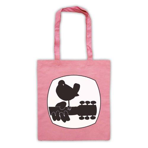 Wood stock Festival Logo 2 tasche frontali con chiusura a libro Rosa