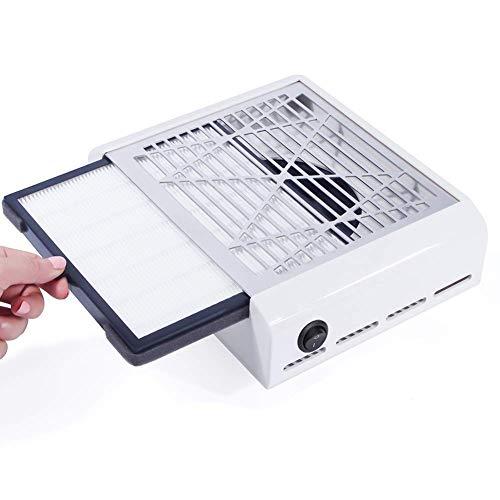 Potente aspiratore da tavolo, aspirapolvere per polvere delle unghie ventola di aspirazione manicure pedicure tool pratico salone per unghie attrezzature per la pulizia 40w