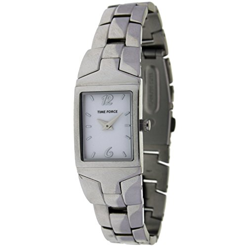 Time Force Tf3208l02m Reloj Analogico Para Mujer Caja De Acero Inoxidable Esfera Color Blanco