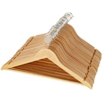 AmazonBasics - Perchas de madera para traje (30 unidades), color arce