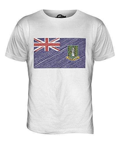 CandyMix Britische Jungferninseln Kritzelte Flagge Herren T Shirt Weiß
