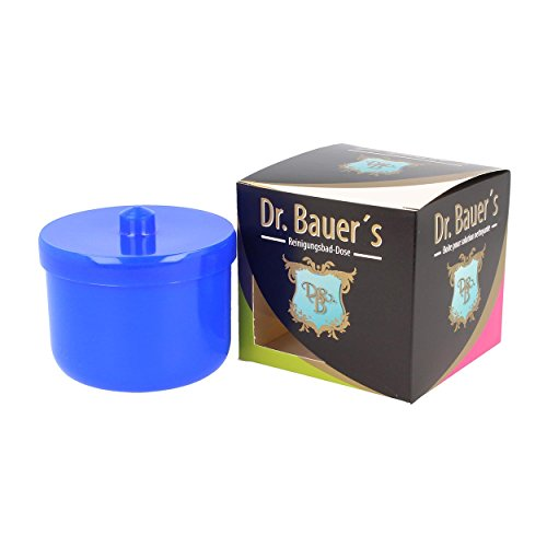 Dr. Bauer´s Reinigungsbad-Dose mit Klarspüleinsatz | Prothesendose | Gebissdose | Prothesendose mit Einsatz | Zahnspangendose (blau)