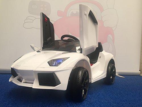 Lamborghini enfant blanche 12v voiture électrique pour enfants avec batterie 12 volts et télécommande - Blanc