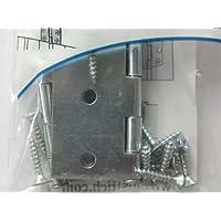 Hettich Scharniere, Türscharniere, Stahlscharniere, 50 x 50 mm, Metall verzinkt, 2 Stück mit Montagematerial, Artikelnr. 62362