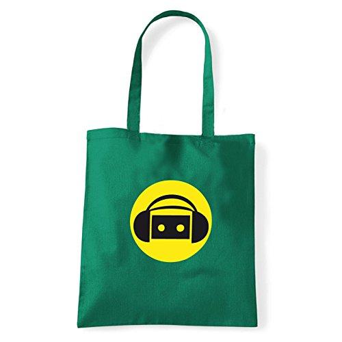 Art T-shirt, Borsa Shoulder music-party Verde