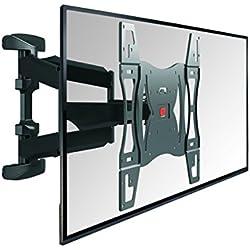 Vogel's BASE 45 L TV-Wandhalterung für 102-165 cm (40-65 Zoll) Fernseher, 180° schwenkbar und neigbar, max. 45 kg, Vesa max. 600 x 400, schwarz
