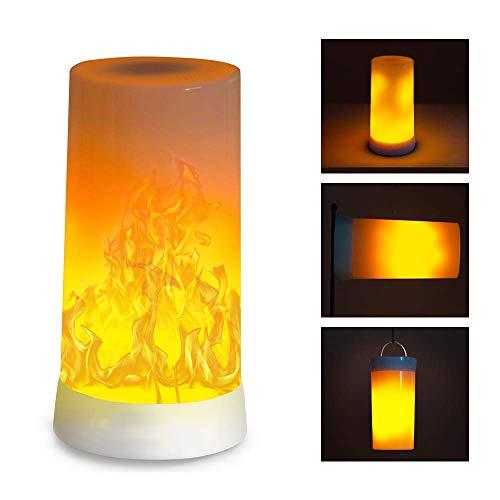 DOOK Flamme Glühbirne, E26 Base Flackernde Flamme Glühbirne dekorative Atmosphäre Lampen,USB-Aufladung, 3-Modus für Weihnachten, Zuhause, Hotel, Bar, Festdekorationen -