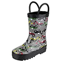 Cotswold Puddle Boot Boys Synthetic Material Wellies Digger - 8.5 Infant