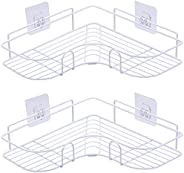 2PCS Corner Shower Caddy, Shower Organizer Storage with Rustproof Stainless Steel Adhesive Sticker, Shower She