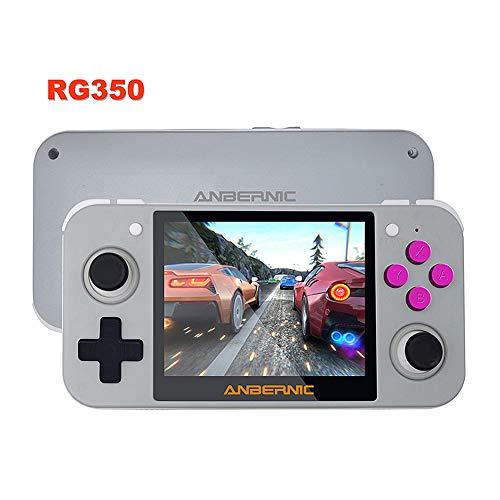Retro Handheld Spielkonsole Handkonsolen RG350 Retro Spielkonsole Tragbare Spiele Konsolen, 3.5 Zoll IPS Bildschirm Portable Spielkonsole, Unterstützung der TF-Kartenerweiterung