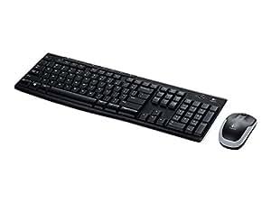 Logitech MK270 RF sans fil Anglais Noir, Argent clavier - claviers (RF sans fil, Maison, Anglais, Universel, Standard, Droit)