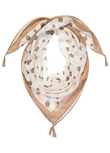 HSHIA Frauen drucken Quaste Schal Chic Kopftuch Weiches Gefühl Schal Das Ideale Geschenk (weiß) (Seide Kopf Binden)