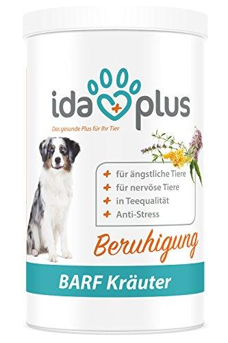 Ida Plus BARF Kräuter - Kräutermischung Beruhigung (100% natürlich) für Hund & Katze, Nahrungsergänzungsmittel für die Beruhigung (150 g)