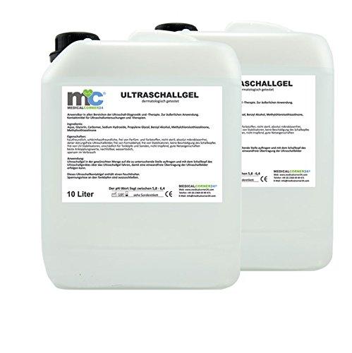 Ultraschallgel 2x 10kg Kanister, Kontaktgel 20kg, Leitgel, Übertragungsgel -