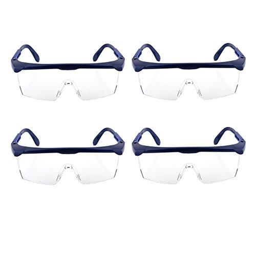 YAMI® Kinder Schutzbrille, Blauen Rahmen mit Klarem Kunststoffgläsern, 4PCS Schützende Schutzbrillen Eyewear für Wasser Pistole Spiele