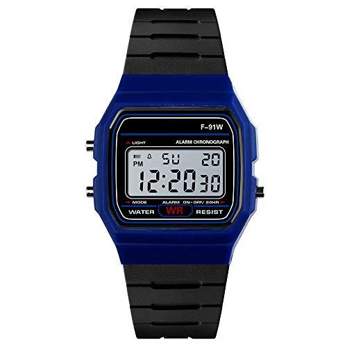 Yvelands Luxus Uhren Männer Analog Digital Military Army Sport LED Wasserdichte Armbanduhr(Blau,Free)