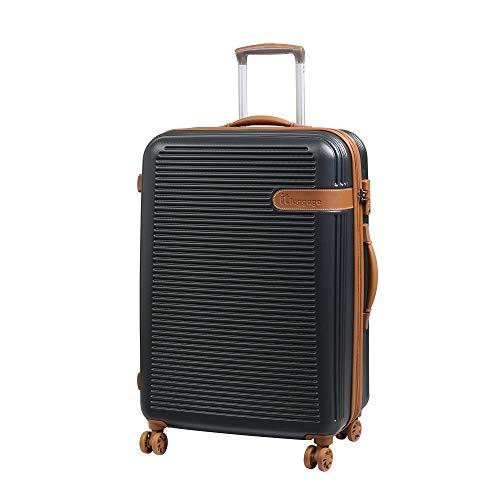 it luggage Valiant 8 Wheel Hard Shell Single Expander Suitcase Cabin with TSA Lock Koffer, 56 cm, 47 liters, Grau (Dark Shadow)