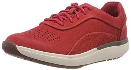 Clarks Damen Un Cruise Lace Derbys, Rot (Red Nubuck), 37 EU Red Nubuck Schuhe