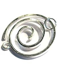 ( 1 Stück * ) Schmuckschließe / Schließe 25mm Spiralschließe , aus 925 Sterling Silber