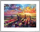 1art1 Stonehenge Poster Kunstdruck und Kunststoff-Rahmen -