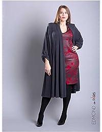 Edmond Boublil - Vêtement Femme Grande Taille Gilet Over Edmond Boublil Gris