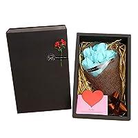 Scented Soap Gift Sets,Soft Simulation Petals Soap Flower Home Decoration Holiday Gift Flower Soaps,Light Blue