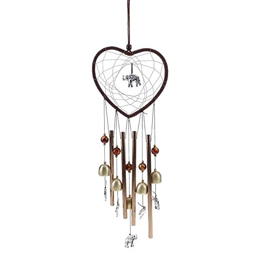 Demiawaking Heart Shape Garden Wind Chimes Good Luck Outdoor Wind