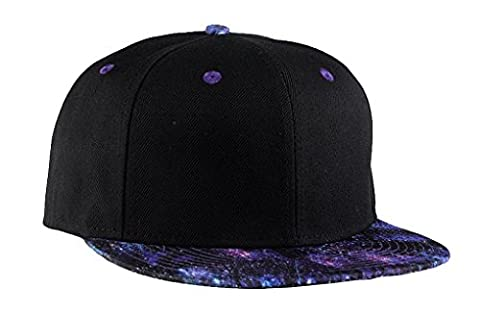 Unisex Fashion Galaxy Star Pattern Hip-Hop Snapback Flatbrim Cap Basic