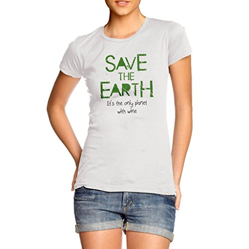 Twisted Envy Women's Save The Earth Cotton T-Shirt