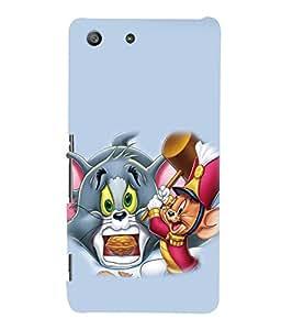 printtech Tom & Jerry Back Case Cover for Sony Xperia M5 Dual E5633 E5643 E5663:: Sony Xperia M5 E5603 E5606 E5653