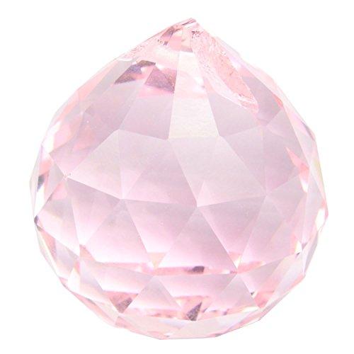 TOOGOO(R) 30 millimetri palla d'epoca Cristallo rosa Feng Shui