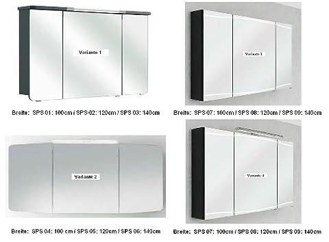 Cassca Pelipal Badmöbel Set 100cm bzw. 160cm Waschtisch Waschtischunterschrank Spiegelschrank Midi-/Hochschrank,
