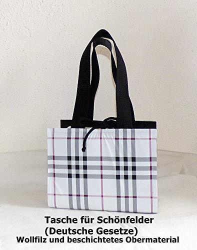 Schönfeldertasche, Deutsche Gesetze, Wollfilz, Gesetztasche, Schutzhülle, Tragetasche -