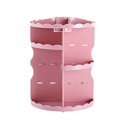 Make-up-Veranstalter Makeup Organizer Aufbewahrungsbox, Rotierende Arbeitsplatte Kosmetik Aufbewahrungsbox Schmuck Display-ständer Schubladen für Lippenstift, Creme, Pinsel Schlafzimmer Badezimmer