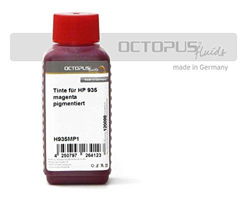 Octopus Fluids 500ml Tinte für HP 935 Druckerpatronen, Farbe Magenta, Druckertinte für HP Officejet PRO 6820, PRO 6800 Series, PRO 6830, PRO 6230 (kein OEM) - 500ml Tinte Magenta