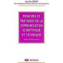 Principes et pratiques de la communication scientifique et technique