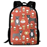Homebe Rucksäcke,Daypack,Schulrucksack Pitbull Halloween Costume Dog Adult Travel Backpack School Casual Daypack Oxford Outdoor Laptop Bag College Computer Shoulder Bags 11x17x6.3 Inch.