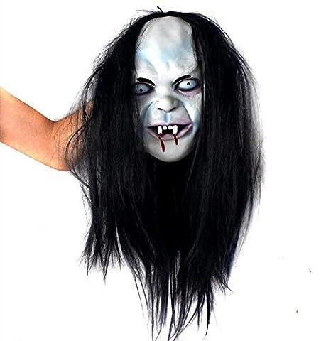 GAOMEISorcière effrayant masque fantôme Masque Halloween horreur masque zombie masque capillaire