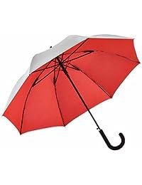 Fare - Parapluie canne automatique extérieur gris argenté - 7119