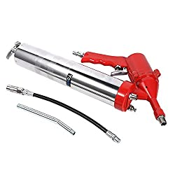 Pistol Grip Air Grease Gun Set One-Hand Air Pneumatic Compressor Lubricating Greasing 1200-6000 PSI with 11