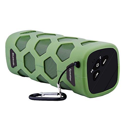 Altavoz Bluetooth al Aire Libre, Esonstyle Hilos al Aire Libre Impermeable a Prueba de Polvo a Prueba de Choques de Altavoces con 10W de Sonido de Alta Definición y la Batería de 4000 mAh Soporte Banco de la Energía, NFC y Construir-en el Micrófono para el iPhone, iPad, Samsung y Más (Brazo Verde)